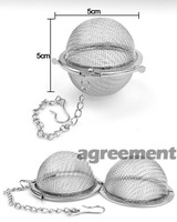 Ситечко- шарик для заваривания чая Tea Stainless Strainer Locking Tea Spice Mesh Stainless Steel Ball Diam 5cm ARE4