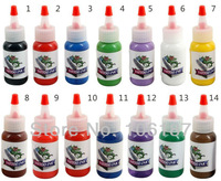 14colours  Professional Tattoo Ink 1oz /bottle   Tattoo Ink Set For Tattoo Kit Needles Supply