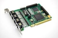 Аксессуары для телефонов Asterisk Card TE410P 4 port PCI 3.3V E1 card T1 card J1 Card for Trixbox, Elastix, digital card