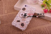 Чехол для для мобильных телефонов pearl elegant luxury C&C brand bling cover for Samsung galaxy S2 hot sales fashion logo diamond case for i9100 957