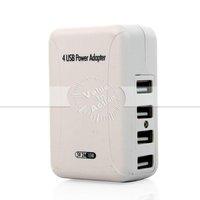 Portable Travel 4 USB ports Power Adapter Plug Charger US AU UK DE Universal