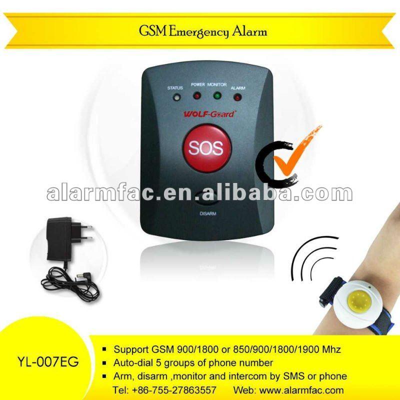 Medical alert system pendant watch bracelet emergency call rc YL-007EK