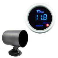 Прибор для авто White 2 1/16 inch 52mm Digital LED Volt Voltage Volmeter Gauge Car Voltmeter Gauge 52mm Voltage Gauge + Black Pod