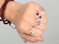 10шт смешанные стили золото p свадьба для новобрачных кольца партии кристалл регулируемые кольца для женщины свободный корабль