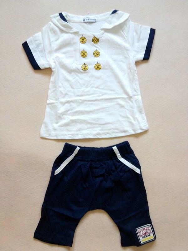 2014 лето мода мягкий хлопок дети мальчики clothings 2 шт. устанавливает костюм младенца