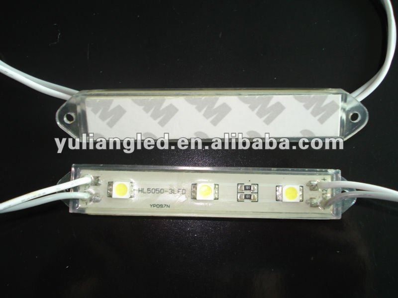 Shenzhen factory 3pcs smd5050 advertising box led module for sign with waterproof IP65