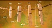 Канцелярский зажим Hot Lovely Small Natural Wood Clip Photo clips 400pcs/lot