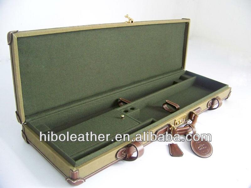 Canvas hunting gun case for shotgun