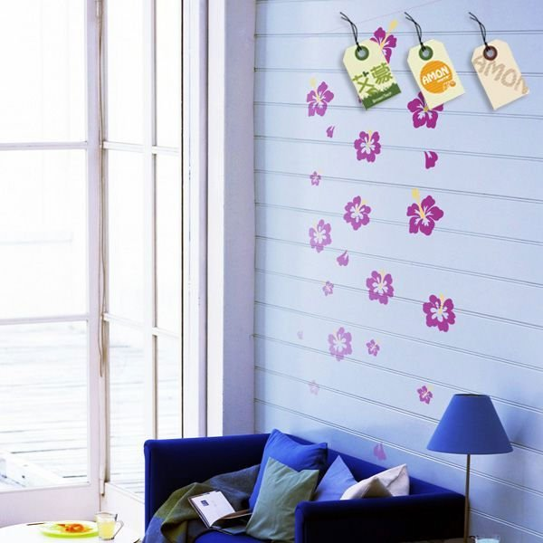 Printed 3d flower wall sticker 2012
