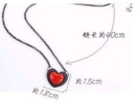 Min.order is $15 (mix order) Mixed wholesale fashion double love peach heart brief paragraph necklace KX0044001