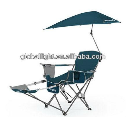 New blue sportbrella fauteuil pliant plage chaise de for Relax plage pliante
