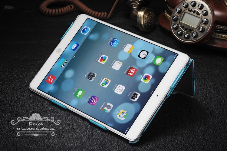 Multi-standing leather case for ipad air case, for ipad 5 leather case