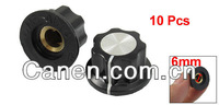 Плавкий предохранитель 10pcs Adjustable Turn 16mm Top 6mm Shaft Insert Dia Potentiometer Rotary Knobs