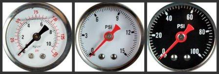 Stainles Steel Glycerin Filled Hydraulic Pressure Gauge