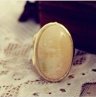 Кольцо R0180 Hot sale Fashion rings Feminine Gold Alloy Big Round Colorful Simulated Stone Adjustable Ring A