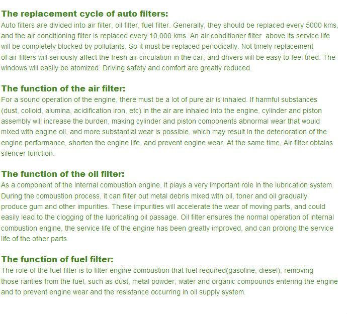 Hot sale CROWN COROLLA Series TOYOTA auto oil filter