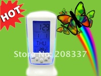 Будильник 1pcs/lot Digital LED Alarm Clock Calendar Thermometer New desktop Music Clock, bell Gifts