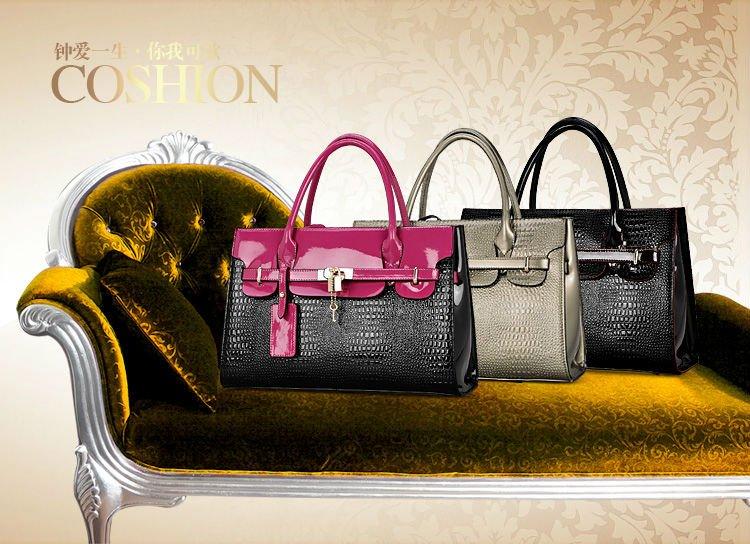 100% Pure Cow Leather Tote Bag Women Handbag 2014