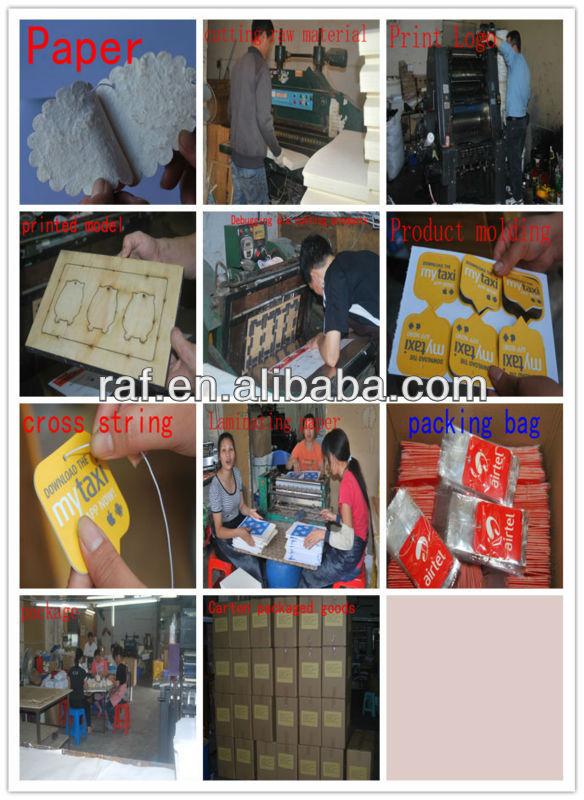 Custom-Made Paper Air Freshener, Hanging Air Freshener for Promotion, Room Air Freshener