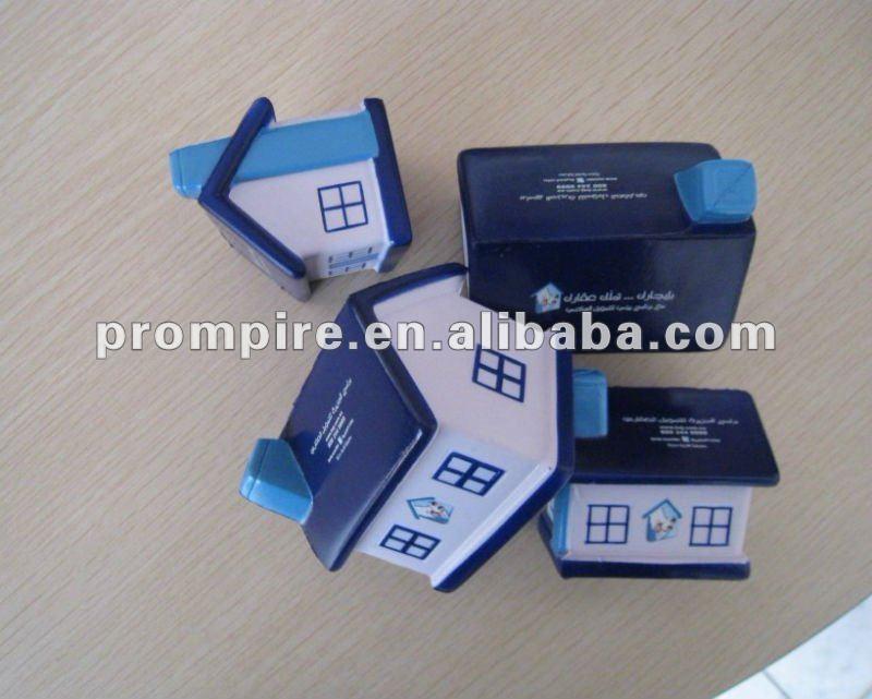 house shape pu stress reliever (polyurethane)