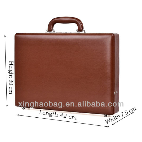 Vintage Men Cowhide Bag Leather Briefcases