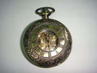 HA0003 D4.5cm Hot sale Mechanical Antique Pocket watch with chain free shipping mix order
