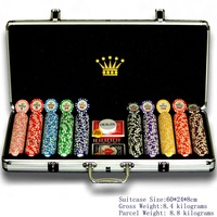 500pcs Casino Poker Chip Sets in Aluminum Case \ Fast shipping+Best Quality+Low Price