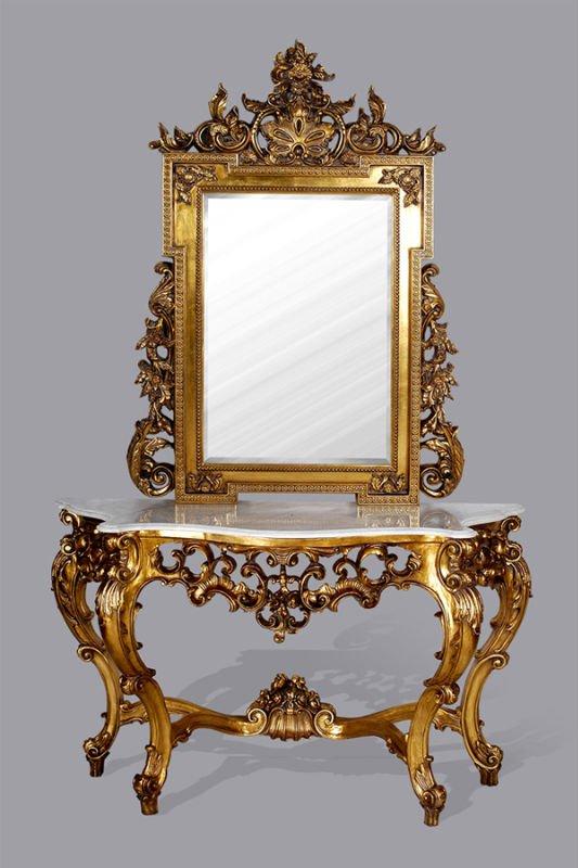 805 antiek zilver barokke stijl console tafel met wastafel antieke tafels product id 60347857810 - Barokke stijl kamer ...