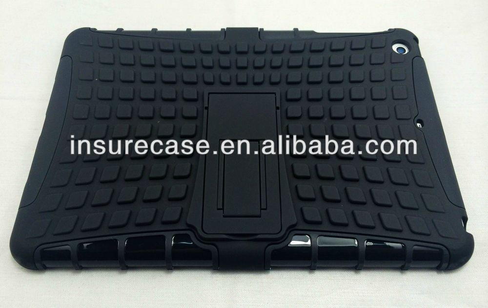 2013 Hot Selling! Block TPU PC Armor Hybrid kickstand Case for IPAD MINI 2