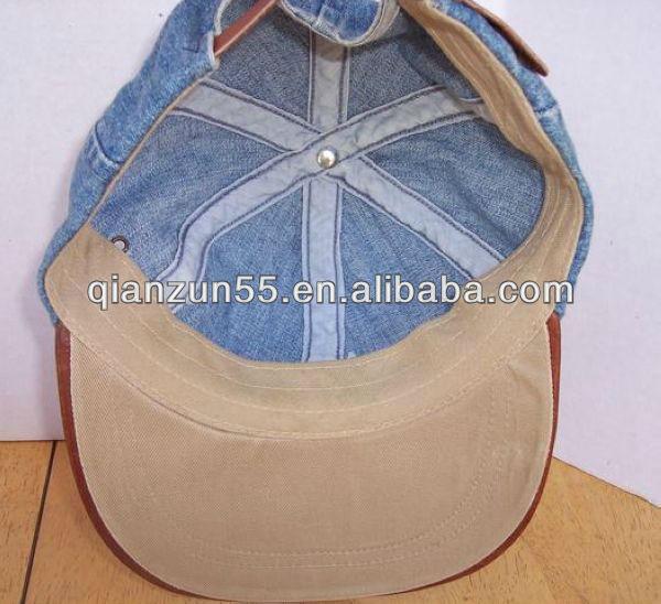 sombreros hechos de material reciclado de encargo de ala de cuero