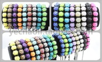 Браслет из бисера Discount 60%, $0.77/ PCS, a limited number of, Shamballa Bracelet, 9 pcs resin rhinestone beads, 17 colors