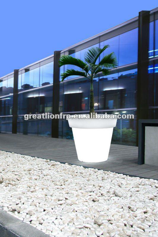 gr02116 xxl taille 1 m ext rieure en plastique pot de fleur gros plantes de terrasse pot gris. Black Bedroom Furniture Sets. Home Design Ideas