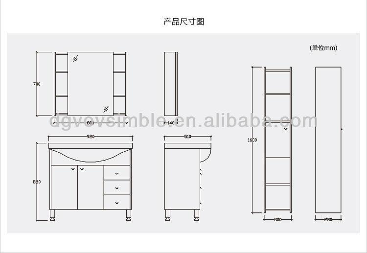 Baño Visitas Medidas:Simbel nuevo diseño de aglomerado con melamina gabinete de cuarto de