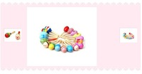 20PCS Wooden Wood Maraca Rattles Shaker Percussion Kid Baby Musical Toy Favor Gift