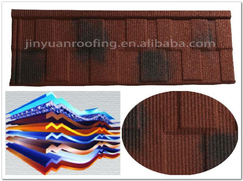 Low maintenance red asphalt roof tile shingles