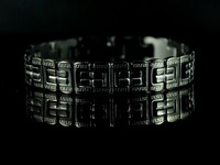 Free shipping&wholesale Christmas gift b507 Classic Stainless steel Men's Bracelet Black color