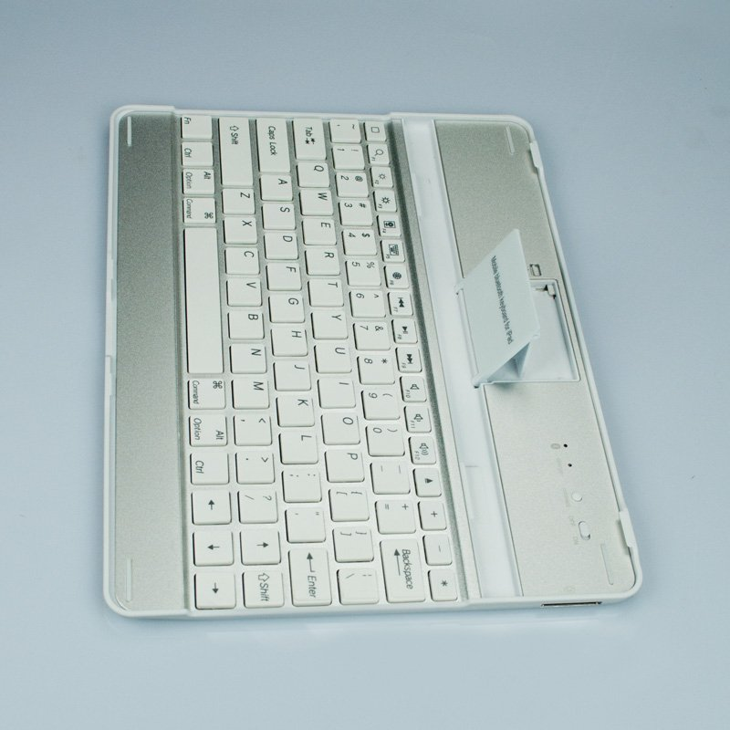 FREE SHIPPING ULTRA THIN ALUMINUM CASE WIRELESS BLUETOOTH KEYBOARD FOR NEW IPAD 3 brand new 2pcs/lot