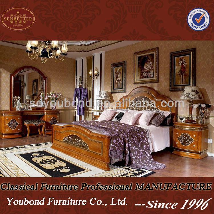 hot sale italian classic bedroom set luxury wooden