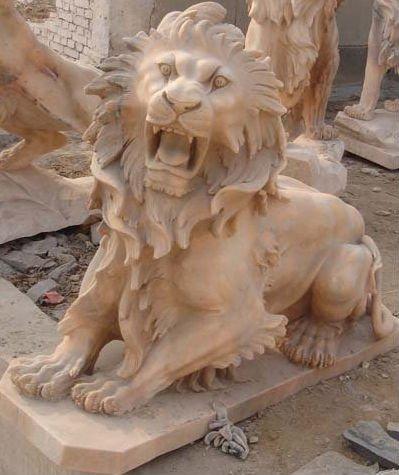 stone carved deer