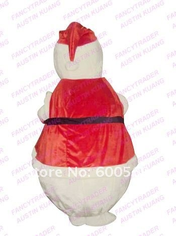 Premium Snowman Mascot Costume Christmas Costume Yeti Mascot Costume Santa Claus Fancy Dress Free Shipping  FT30128.....JPG