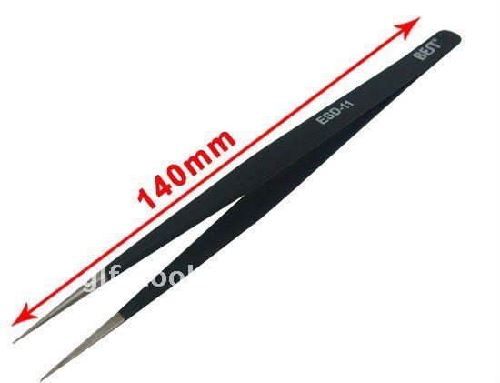 BEST-ESD-11 tweezer/anti static tweezers/high-powered tweezer/highly tweezers/flexibility tweezers/hard tweezers/elite tweezers