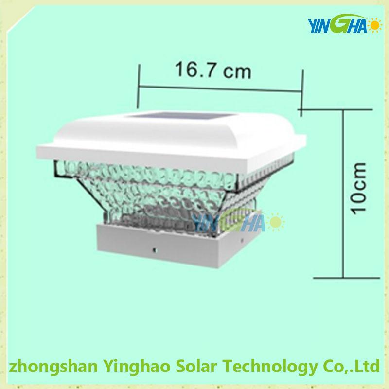 4x4 conduit lampadaire solaire pour cl ture solaire for Lampe solaire pour portail