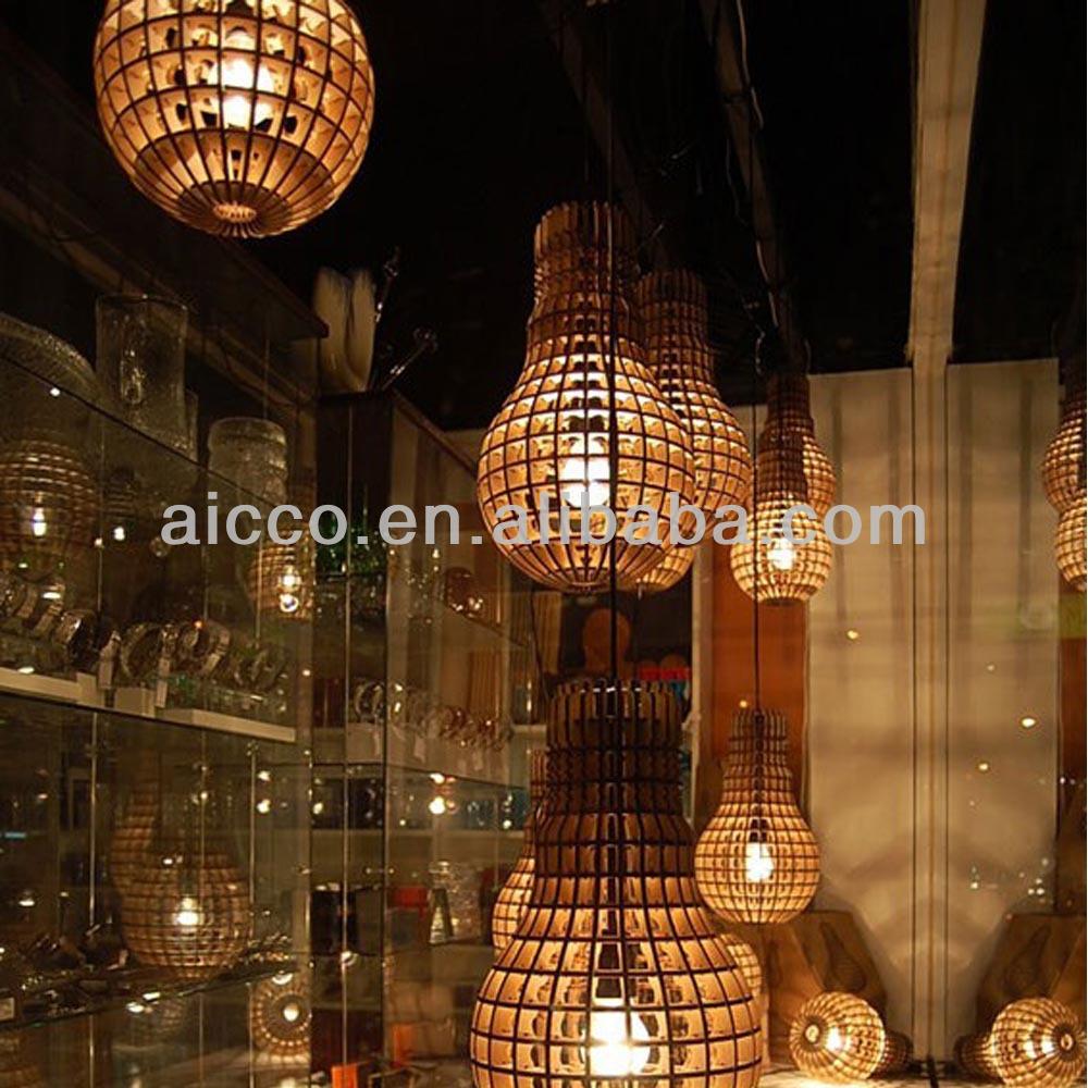 Moderne led houten hanger lichtontwerper verlichting met rode ...