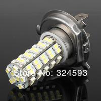 FreeShipping H4 68SMD 1210 fog light  LED White Headlight Bulbs Light  Auto Taillights 2pcs