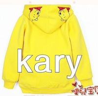 baby lovely pooh comfortable hood for spring and autumn,hoodies,sweatshirt,Free shipping,wholesale,hot F114