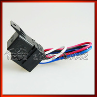 High Quality Universal Carbon Fiber Look Racing Car Ignition Switch Panel Red Indicator Light
