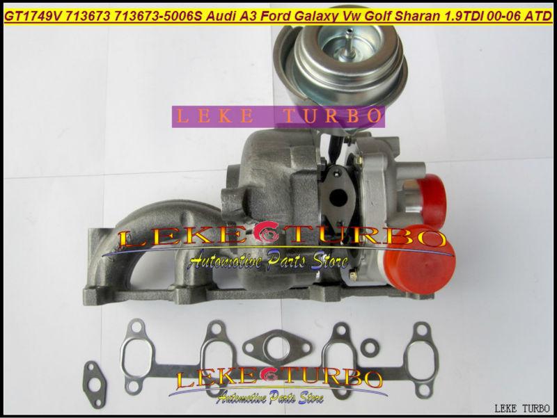 LEKE GT1749V 713673-5006S 713673 turbocharger turbo for Audi A3 Ford Galaxy VW Golf Sharan 1.9 TDI 2000-06 AUY AJM ASV ATD 1.9L 85KW Diesel 115HP