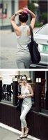 0470 # 2012 early autumn new Korean Hot casual fashion vest suit - black (390g)
