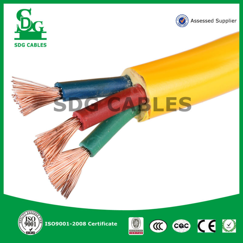 2014 SDG Cable ! Alibaba China Supplier !low voltage high quality yellow color Copper wire electrical wire and cable! SDG-10030