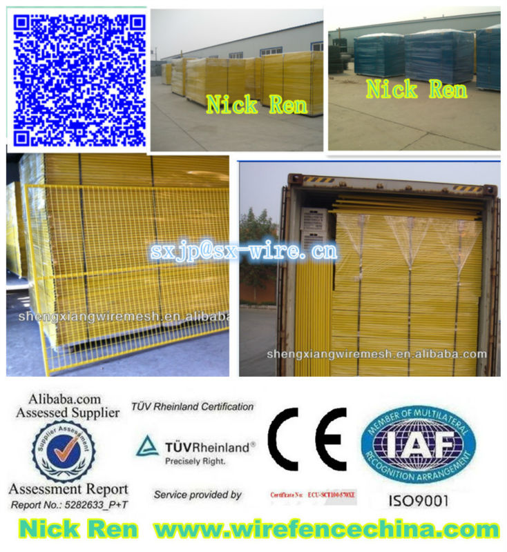 TUV CE Certicification Canada or au temporary fence (Factory)ISO 9001